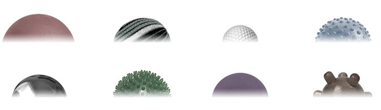 Разные массажные мячики и шары